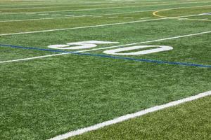kunstgras & vijftig yard lijn foto