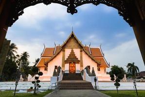 de tempel van Thailand - wat phumin in nan-provincie, noordelijk Thailand foto