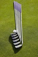 golfschläger set met golfbal foto
