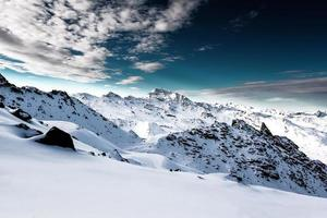 Alpen, Frankrijk, skigebied van Val Thorens