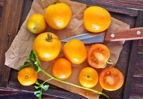 gele tomaat foto