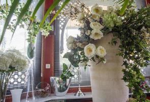 witte rozen foto