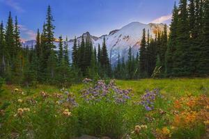 zonsondergang in de prachtige vallei foto