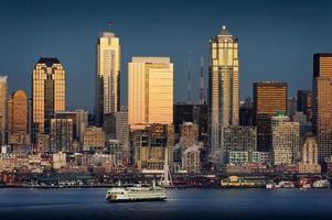 Seattle, de skyline van Washington foto