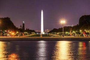 het winkelcentrum Smithsonian Washington Monument avond Washington DC
