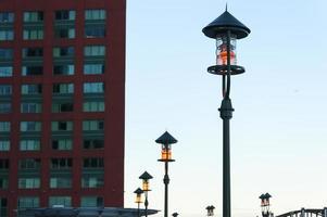 lantaarns in het centrum van Boston