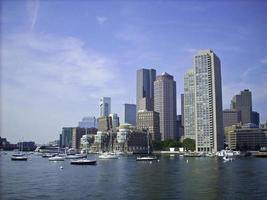 skyline van de haven van Boston foto
