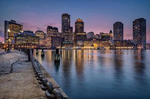 bostons waterkant en haven foto