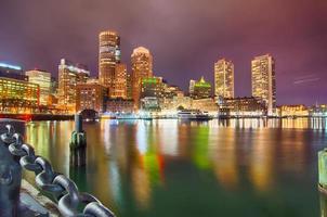 Boston Harbor en financiële wijk foto