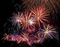 Boston 4 juli nationale dag vuurwerk foto