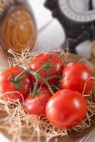 de tomaat (solanum lycopersicum) foto