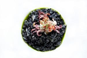 zwarte risotto foto