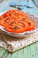 voorgerecht van gehakte tomaten foto
