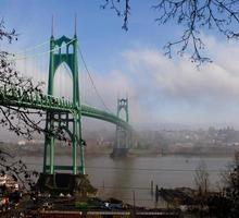 st. John's Bridge in Portland, Oregon foto