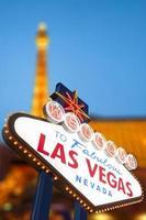 Welkom bij het fantastische Las Vegas-bord foto