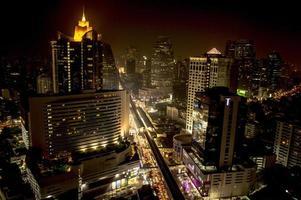 Bangkok schemering foto