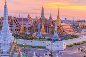 tempel van de smaragd van Boeddha of wat phra kaew foto