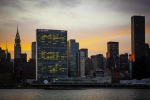 gebouw van de Verenigde Naties, New York City, VS. foto