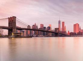 manhattan en brooklyn bridge, new york city. VS. foto