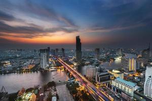 bovenaanzicht in bangkok, thailand foto