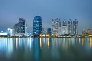 bangkok stad centrum 's nachts foto