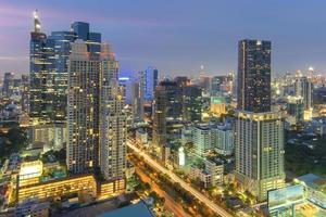 stadsgezicht in het midden van Bangkok, Thailand foto