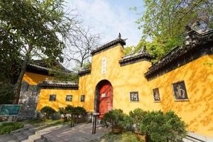 jiming tempel hoofdingang, nanjing, provincie jiangsu, china. foto