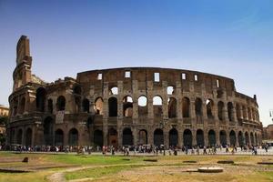 het colosseum in rome, Italië. foto