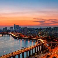 seoul zonsondergang foto