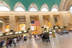 overvolle Grand Central Station in New York foto
