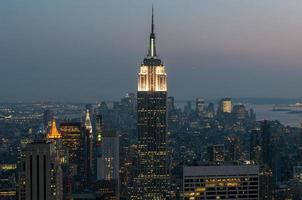 's avonds uitzicht op Manhattan foto