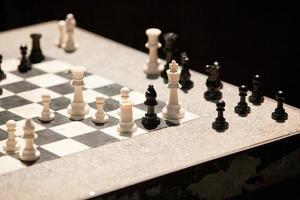 straat schaakbord foto