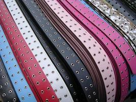 kleurrijke riemen foto