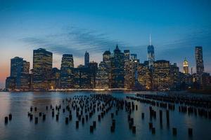 prachtig New York bij avondschemering foto
