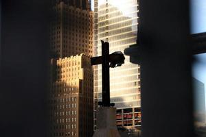 kruis op grond nul foto