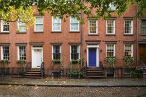 Greenwich Village appartementsgebouwen, New York City foto