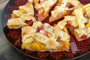 perzik taart foto