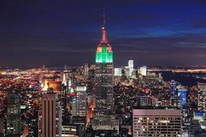 Luchtfoto van de skyline van New York City Manhattan foto