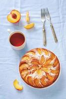 cake met perziken foto