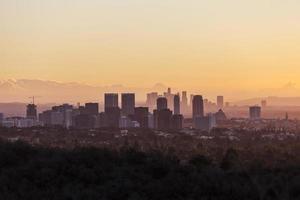 eeuwse stad en Los Angeles Dawn foto