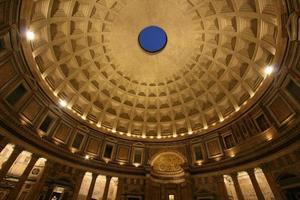 binnen pantheon 's nachts foto