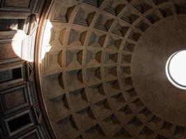 het plafond van pantheon foto