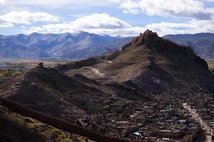 algemeen beeld van jiangzi county en zongshan castle foto