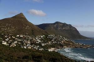 woonwijk in Clifton Beach, Kaapstad, Zuid-Afrika foto
