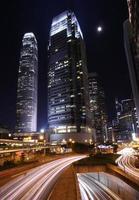 nachtscène van hong kong foto