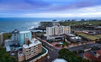 de skyline van de stedelijke stad, Kaapstad, Zuid-Afrika. foto