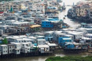 tai o, een vissersdorp in hong kong. foto