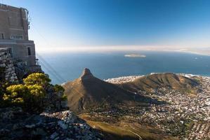 uitzicht vanaf de top van de Tafelberg, Kaapstad. foto