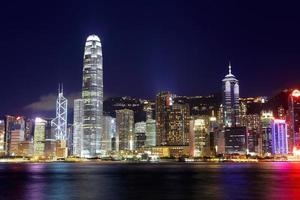 hong kong 's nachts foto