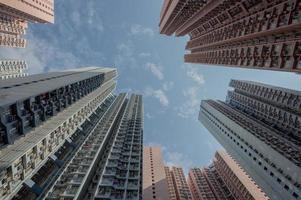 overvolle woningen in hong kong foto